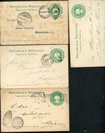 Mexico 4 Postal Cards MEPSI #PC114 Colima + Zamora + Puebla 1903-05 - Mexique