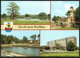 D2725 - TOP Roßlau Ernst Thälmann Schule Freibad - Bild Und Heimat Reichenbach - Rosslau