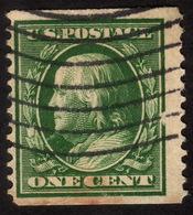 1910 US, 1c Stamp, Catalog Value 140$, Used, Benjamin Franklin, Sc 387, Mi 178G, Rare - Stati Uniti