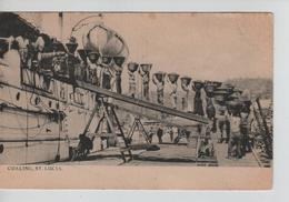 CBPNCPCF22/ St.Lucia  Coaling - Charbonnage Animated-animée 1909 Castries 1909 - Sainte-Lucie