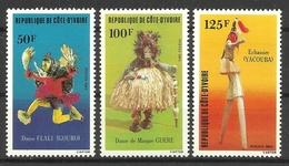 IVORY COAST COTE D' IVOIRE 1983  TRADITIONAL DANCES SET MNH - Ivoorkust (1960-...)