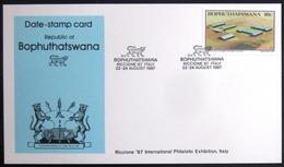 "BOPHUTHATSWANA                Carte Commémorative   "" RICCIONE 87 ITALY "" - Bophuthatswana"