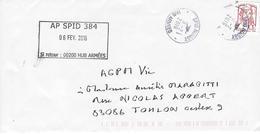 Lettre Oblitération Militaire. AP SPID 384 Sur Timbre De Carnet CIAPPA - Militärstempel Ab 1900 (ausser Kriegszeiten)