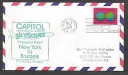 Aérophilatélie - ONU - Lettre 05/05/1979 - 1er Vol Sabena New York-Bruxelles - Capitol Skysaver - Posta Aerea