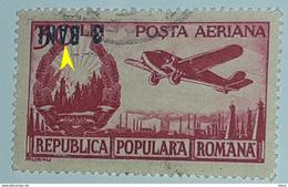 Error Romania 1952 Aviation With Inverted Surcharge Overprint 3bani - Variedades Y Curiosidades