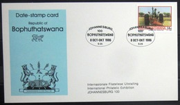 "BOPHUTHATSWANA                Carte Commémorative   "" JOHANNESBURG 100 "" - Bophuthatswana"