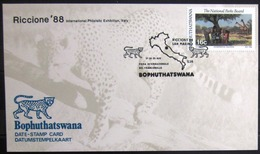 "BOPHUTHATSWANA                Carte Commémorative   "" RICCIONE 88 ITALY "" - Bophuthatswana"