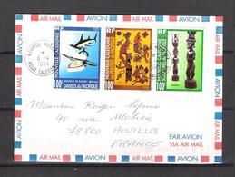 1998 - TIMBRES DE NOUVELLE CALÉDONIE - N° 741 A 743 SE TENANT - LETTRE DU 06/04/1998 - Storia Postale
