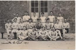 JOINVILLE LE PONT Carte Photo Caserne Militaire 1931 école De Gymnastique Et D Escrime - Athlète Torse Nu 3e Régiment - Joinville Le Pont