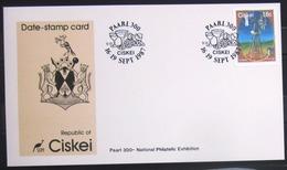 """CISKEI                Carte Commémorative   """" PAARL 300  1987 """" - Ciskei"""