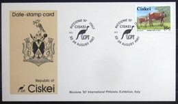 """CISKEI                Carte Commémorative   """" RICCIONE 87 """" - Ciskei"""