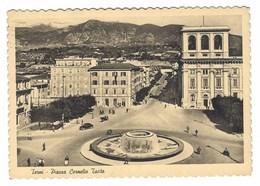 2468 - TERNI PIAZZA CORNELIO TACITO ANIMATA 1956 - Terni