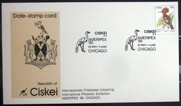 "CISKEI                Carte Commémorative   "" AMERIPEX  86 "" - Ciskei"