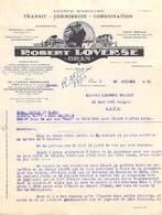 Lettre De 1950 Algérie  Robert LOVERSE Oran -Agence Maritime Transports Transport Des Vins  à Mr Llaurens Transit Sète - Other