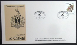 "CISKEI                Carte Commémorative   "" SAPDA SAFHA  87 "" - Ciskei"