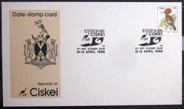 """CISKEI                Carte Commémorative   """" ESSEN 86 """" - Ciskei"""