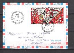 1998 - TIMBRES DE MONACO - N° 2142 ET 2143 SE TENANT - LETTRE DU 02/06/98 JEUX OLYMPIQUES D'HIVER DE NAGANO - Monaco