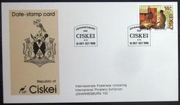 "CISKEI                Carte Commémorative   "" JOHANNESBURG 100 "" - Ciskei"