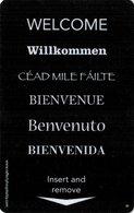 PRODUTTORI  KEY HOTEL  Welcome - Willkommen - Céad Mile Fáilte - Cartes D'hotel