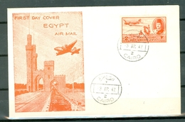 Egypt C39 Farouk Nice Pictorial Cover Cancelled WYSIWYG 1947 A04s - Égypte