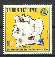 IVORY COAST COTE D' IVOIRE 1984  WORLD TELECOM DAY MNH - Ivory Coast (1960-...)