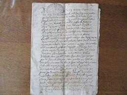 24 JANVIER 1724 AU LIEU DE CHABONS PROCEDURE DE TUTELLE DE BENOIST COTTE CACHETS GENER. DE GRENOBLE UN S 4D LA FEUILLE - Cachets Généralité