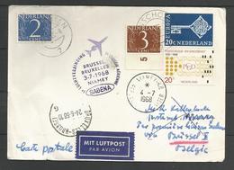 Aérophilatélie - Pays-Bas - Carte 1968 Winschoten -1er Vol Sabena Bruxelles-Niamey - Luchtpost