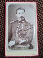 CDV GENDARME - Aiguillettes - Médaille - Gradé ( Voir Épaulettes ) - Photo E. Lenoble TONNERRE - Circa 1880 - TBE - War, Military