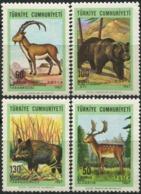 TURKEY 1967 Deer Goat Brown Bear Wild Boar Native Mammals Animals Fauna MNH - Ours