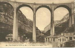 CPA 06 LES GORGES DU LOUP / LE VIADUC ET LA VALLEE - France