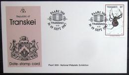 """TRANSKEI              CARTE COMMEMORATIVE  """" PAARL 300 """" - Transkei"""