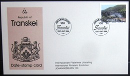 """TRANSKEI              CARTE COMMEMORATIVE  """" JOHANNESBURG 100 """" - Transkei"""