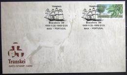 """TRANSKEI              CARTE COMMEMORATIVE  """" DESCOBREX 89 """" - Transkei"""