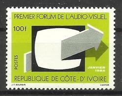 IVORY COAST COTE D' IVOIRE 1984  FIRST AUDIO VISUAL FORUM MNH - Ivory Coast (1960-...)