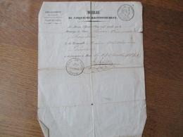14 OCTOBRE 1843 LE MAIRE GRIOLET DU CINQUIEME ARRONDISSEMENT DE PARIS CERTIFICAT DE MARIAGE TIMBRE ROYAL 35c SEINE - Steuermarken