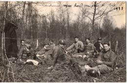 LANDRECIES Carte Photo Militaire 1933 Jour De Tir Dans La Foret Mormal - France