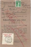 NN Streifband  Zürich - Eschenbach  (Rechtzeitig Refüsiert)         1912 - Covers & Documents