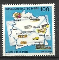 IVORY COAST COTE D' IVOIRE 1984  POST DAY  MNH - Ivory Coast (1960-...)