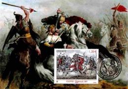 """Carte Maximum 2012 - St-Genevieve Issu Du Bloc """"Les Grandes Heures De L'histoire"""". - Maximum Cards"""