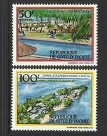 IVORY COAST COTE D' IVOIRE 1984 TOURISM 2V SET MNH - Ivoorkust (1960-...)