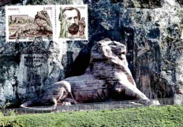 Carte Maximum 2012 - Belfort (Territoire De Belfort) Avec Vignette Du Sculpteur Frédéric-Auguste Bartholdi. - Maximum Cards