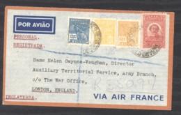 0l  064  -  Brésil   :  Lettre Recommandée Pour Londres  Via Air France - Luchtpost