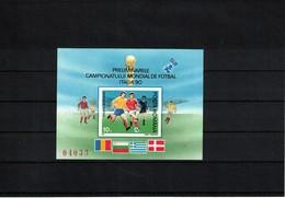 Romania 1990 World Football Cup Italy Michel Block 260 Postfrisch / MNH - 1990 – Italië