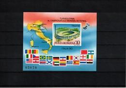 Romania 1990 World Football Cup Italy Michel Block 262 Postfrisch / MNH - 1990 – Italië