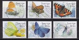 SUECIA 2017 - Mariposas Serie Completa Usada - Suecia