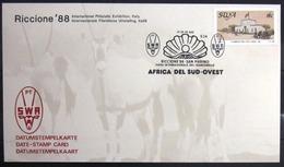 "SWAZILAND                       Carte Commémorative  "" RICCIONE 88 "" - Swaziland (1968-...)"
