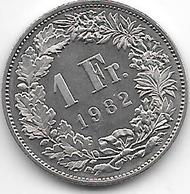 *switzerland1 Franc 1982 Km  24a.2 Proof Onley 1 Date In Km - Suisse