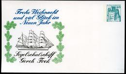 TALL SHIP GORCH FOCK Germany STO Postal Card PP100 B1/001 1977 - Militaria