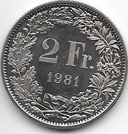 *switzerland 2 Francs 1981 Km  21a.1 Proof - Suisse
