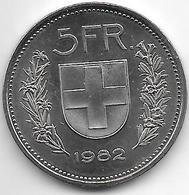 *switzerland 5 Francs 1982 Km  40a.2  Bu - Suisse